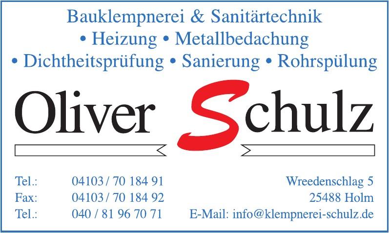 Oliver Schulz Bauklempnerei und Sanitärtechnik
