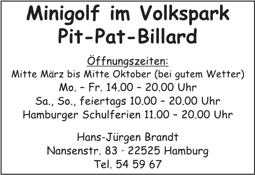 Minigolf im Volkspark Pit-Pat-Billard