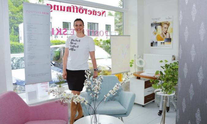 Annett von Kostka in ihrem neuen Kosmetikinstitut