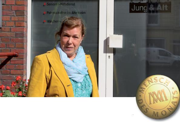 Gründerin und zweite Vizepräsidentin Beate Schmidt vor dem Büro des gemeinnützigen Vereins, FOTO: JOHANNA RAEDECKE