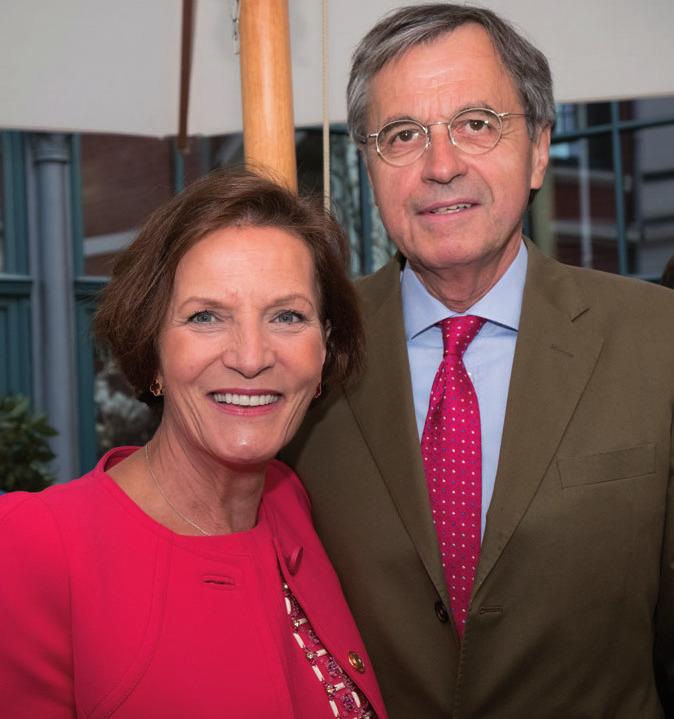 Dr. Ottmar Gast (Hamburg-Süd) mit Ehefrau Margot Blume-Gast