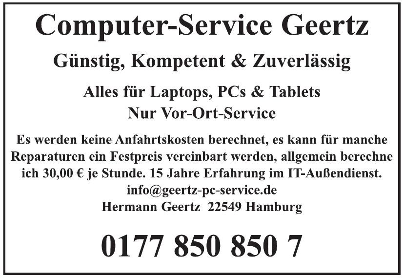 Computer-Service Geertz