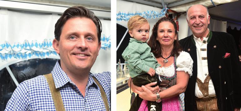 Restaurantleiter Pawel Dohrn und ein Sizilianer in Lederhose: Salvatore Testa mit Ehefrau und Sohn