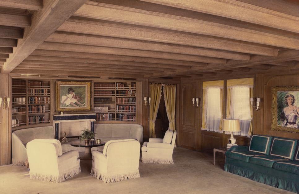 1953: Aristoteles Onassis' Salon auf seiner Yacht Christina, entworfen von Cäsar PinnauFOTO: HAMBURGISCHESARCHITEKTURARCHIV